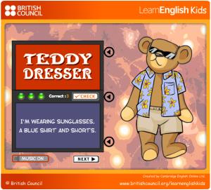Teddy's wearing