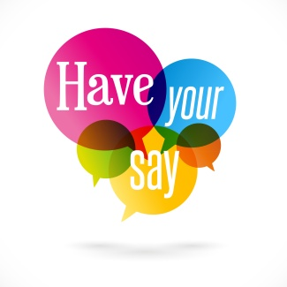Have your say! - Speech bubbles